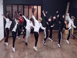 "Watch: Wanna One Impresses With Dance Practice Video For ""Beautiful"""